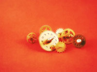 Brass Cogs Wallpaper